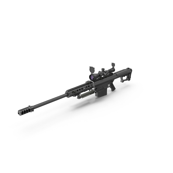 Barrett M107 Sniper Rifle PNG & PSD Images