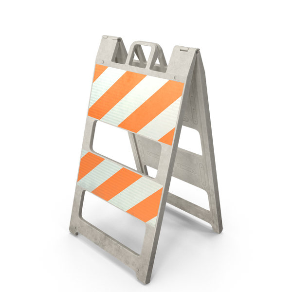 Traffic Barrier: Barricade Type II OLD PNG & PSD Images