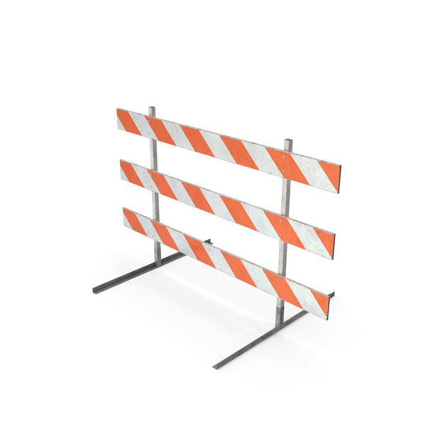 Road Safety Barrier: Barricade Type III DIRT PNG & PSD Images