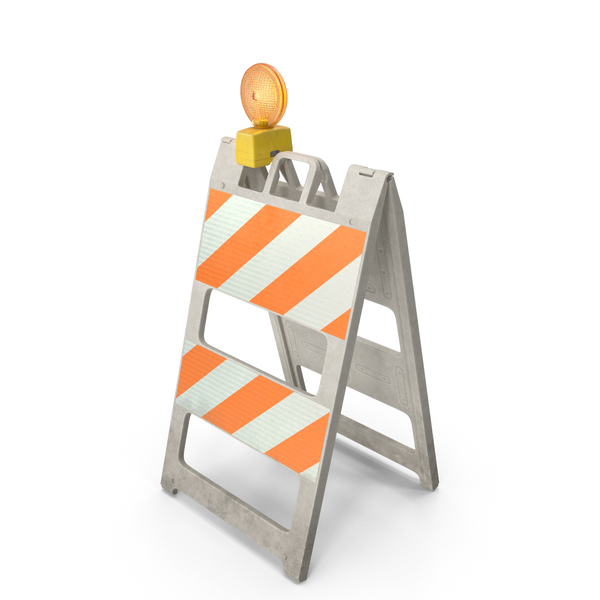Road Safety Barrier: Barricade Warning Light Dirt PNG & PSD Images