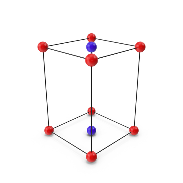 Molecule: Base Centered  Orthorhombic Crystal Lattice Structure PNG & PSD Images