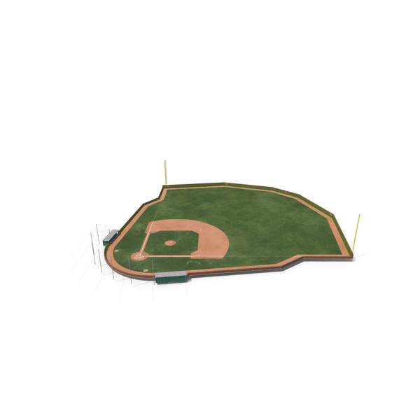 Baseball Field with Brick Wall with Ivy PNG & PSD Images