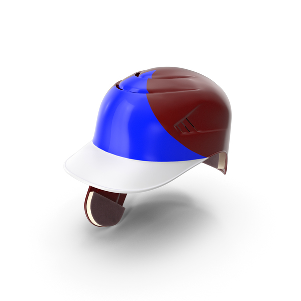 Baseball Helmet C flap Red Blue Triangle PNG & PSD Images