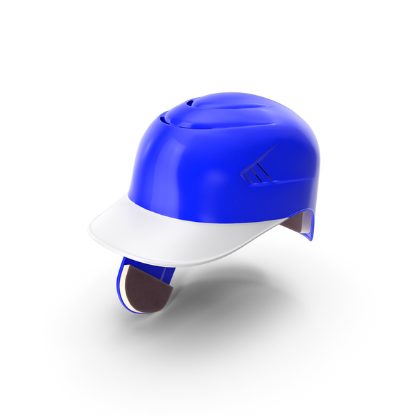 Baseball Helmet Ear Flap Blue PNG & PSD Images