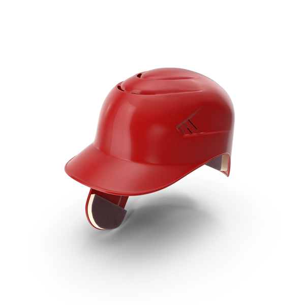 Cap: Baseball Helmet Ear Flap Red PNG & PSD Images
