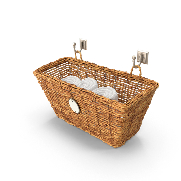 Basket With Towels PNG & PSD Images