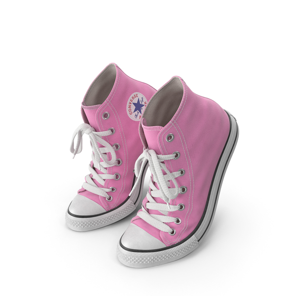 Sneakers: Basketball Leather Shoes Bent Pink PNG & PSD Images