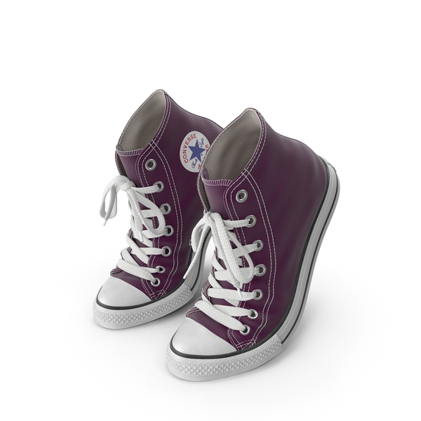Sneakers: Basketball Leather Shoes Bent Purple PNG & PSD Images