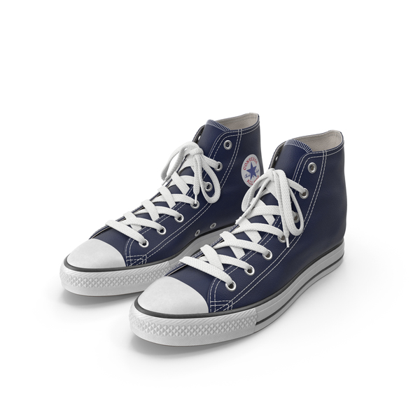 Sneakers: Basketball Leather Shoes Dark Blue PNG & PSD Images