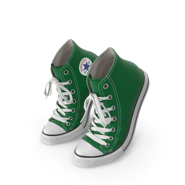 Athletic: Basketball Shoes Bent Green PNG & PSD Images