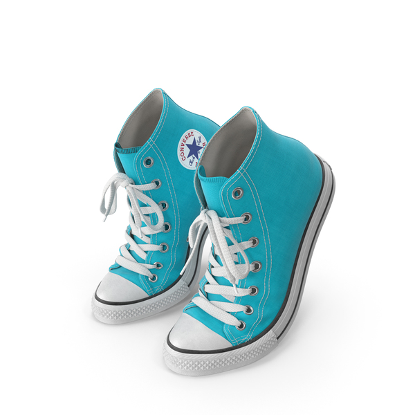 High Top Sneakers: Basketball Shoes Bent Light Blue PNG & PSD Images