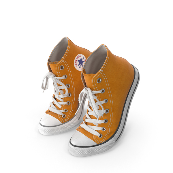 Sneakers: Basketball Shoes Bent Orange PNG & PSD Images