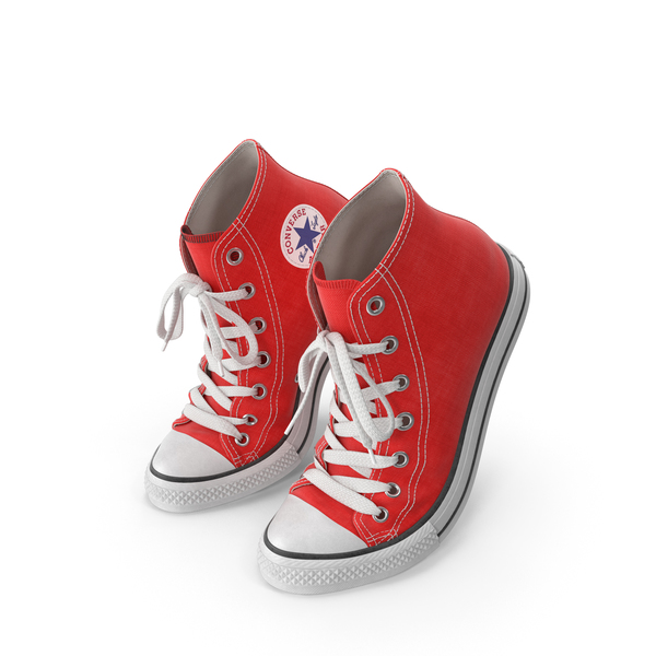 High Top Sneakers: Basketball Shoes Bent Red PNG & PSD Images