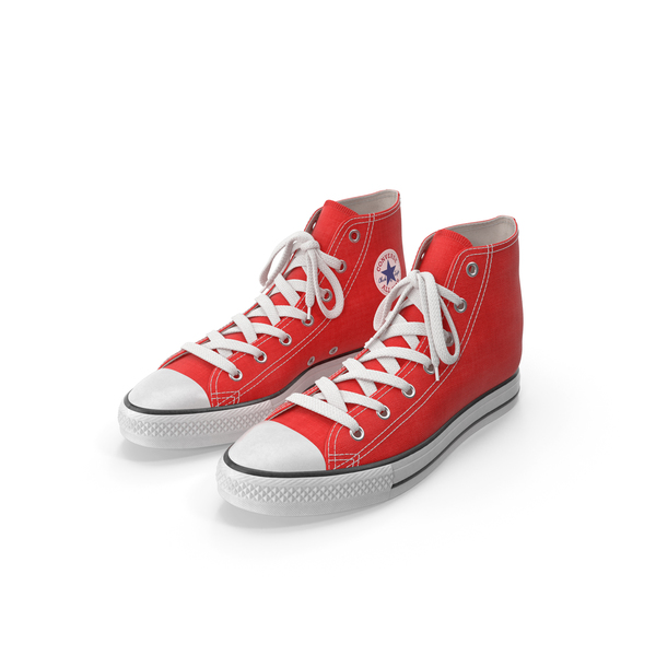 High Top Sneakers: Basketball Shoes Red PNG & PSD Images
