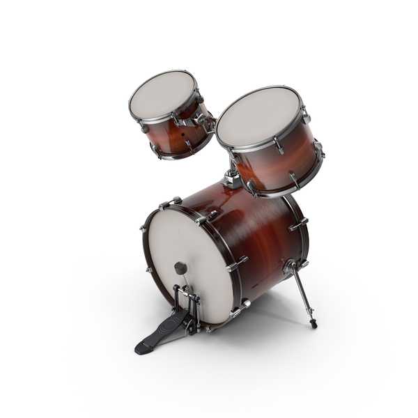 Kit: Bass Drum with Top Toms PNG & PSD Images