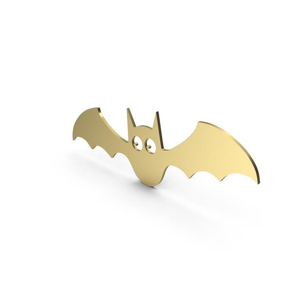 Bat Figure Cartoony Gold PNG & PSD Images
