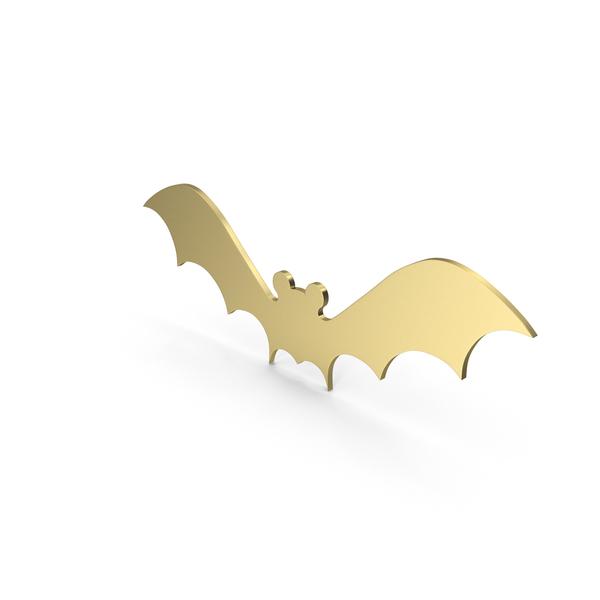 Bat Figure Gold PNG & PSD Images
