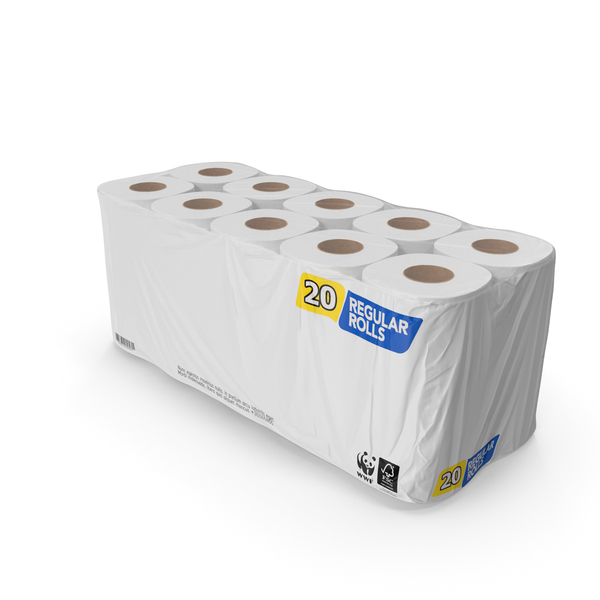 Bath Tissue 20 Rolls Pack PNG & PSD Images