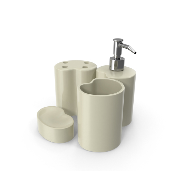 Bathroom Accessories Set PNG & PSD Images