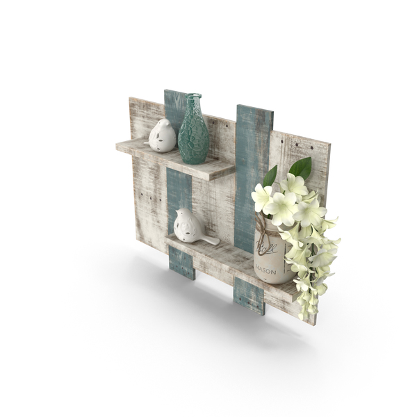 Bathroom Decor Shelves PNG & PSD Images
