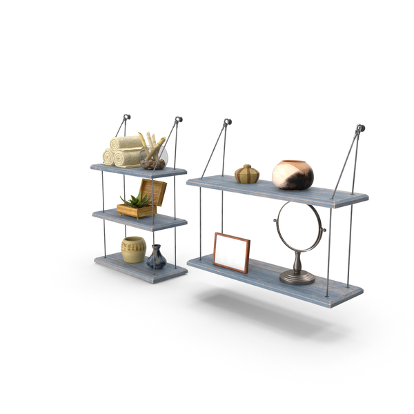 Bathroom Decor Shelving PNG & PSD Images