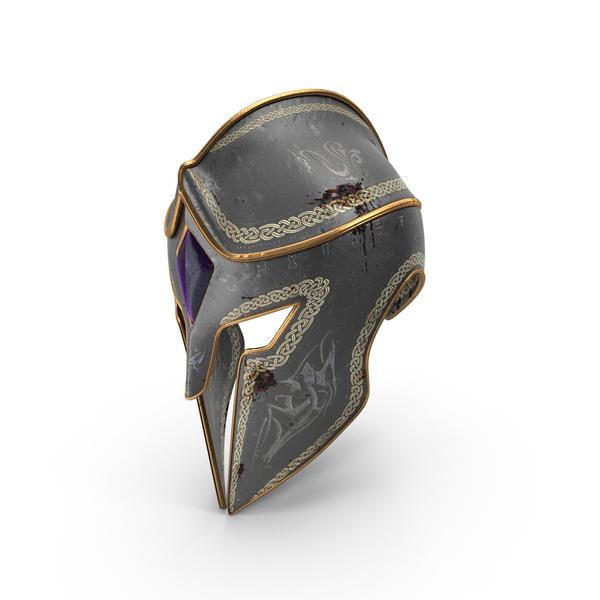 Battle Worn Fantasy Helmet PNG & PSD Images