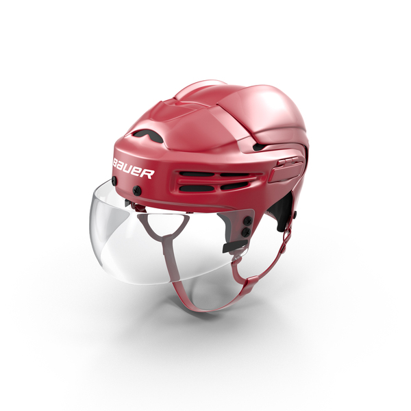 Bauer Red Hockey Helmet PNG & PSD Images