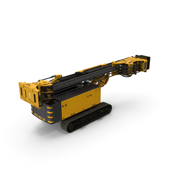 Bauer RG16T Pile Driver Folded PNG & PSD Images