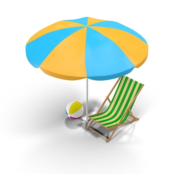 Beach Chair and Umbrella PNG & PSD Images