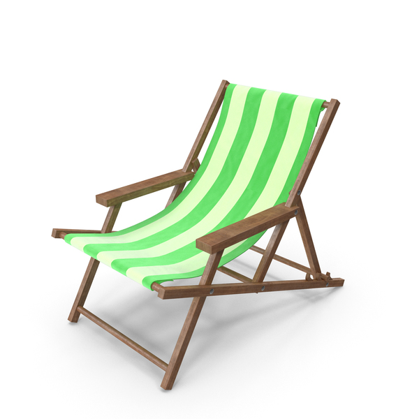 Lawn: Beach Chair Green PNG & PSD Images
