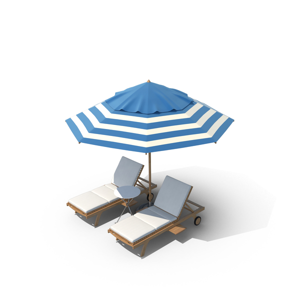Lawn: Beach Chair Set PNG & PSD Images