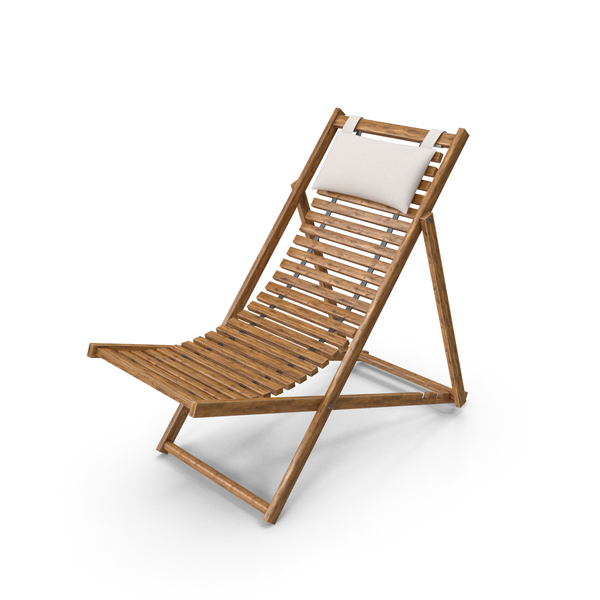 Beach Chair with Pillow PNG & PSD Images