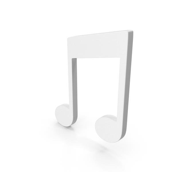 Musical: Beam Music Note White PNG & PSD Images