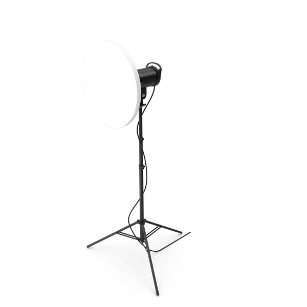 Photography Light: Beauty Dish Studio Monolight with Grid And Head on Stand PNG & PSD Images