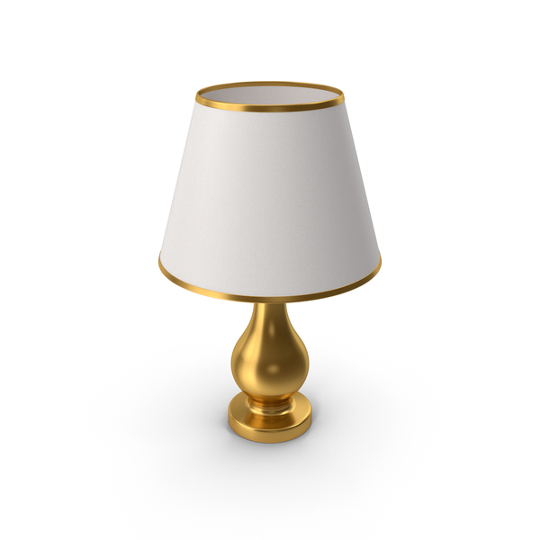 Table: Bedroom Lamp Gold PNG & PSD Images