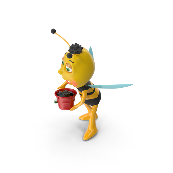 Bee and Bucket PNG & PSD Images