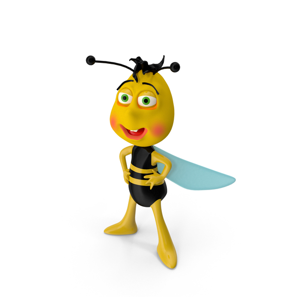 Cartoon: Bee Character PNG & PSD Images