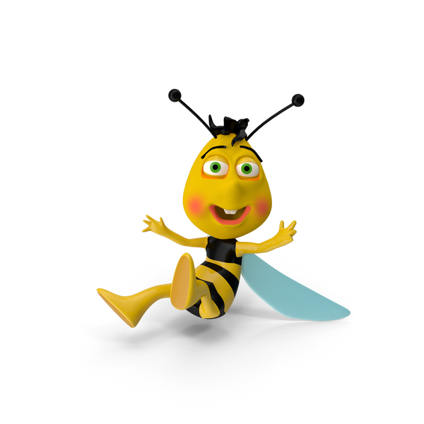 Cartoon: Bee Fly PNG & PSD Images
