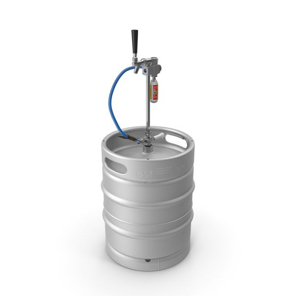 Beer Keg 50L with Leland CO2 Picnic Tap PNG & PSD Images