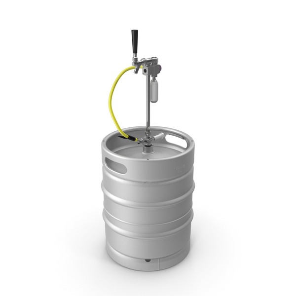 Beer Keg 50L with Portable Tap PNG & PSD Images