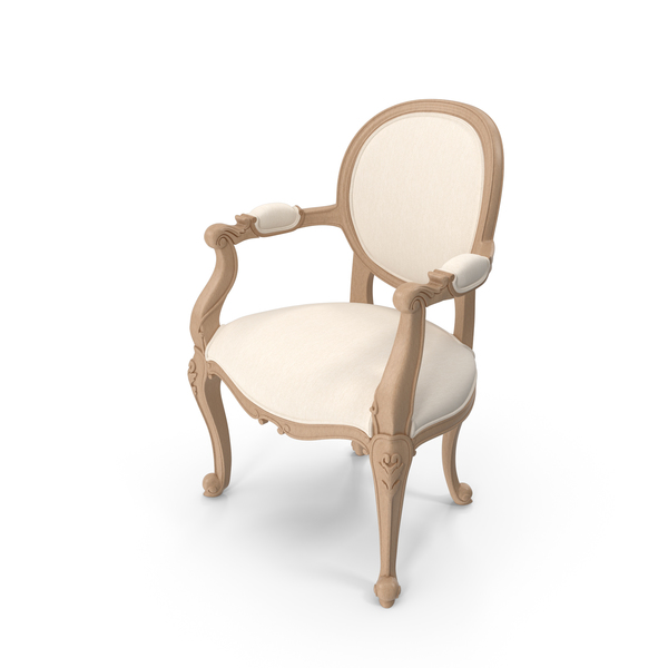 Arm Chair: Beige Angelique Armchair By Fabulous & Baroque PNG & PSD Images