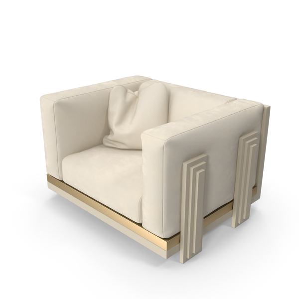 Beige Armchair PNG & PSD Images