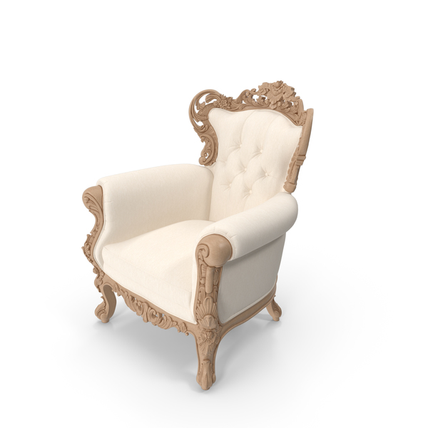 Beige Belle de Fleur Chair by Fabulous & Baroque PNG & PSD Images
