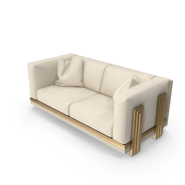 Beige Double Sofa PNG & PSD Images