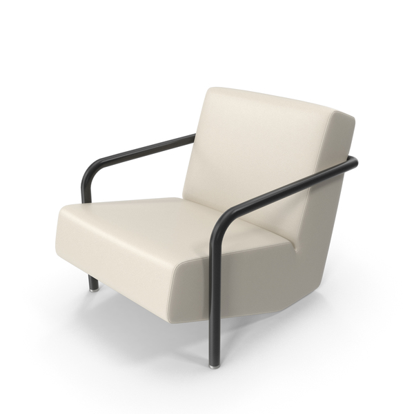 Beige Leather Porro Office Chair PNG & PSD Images