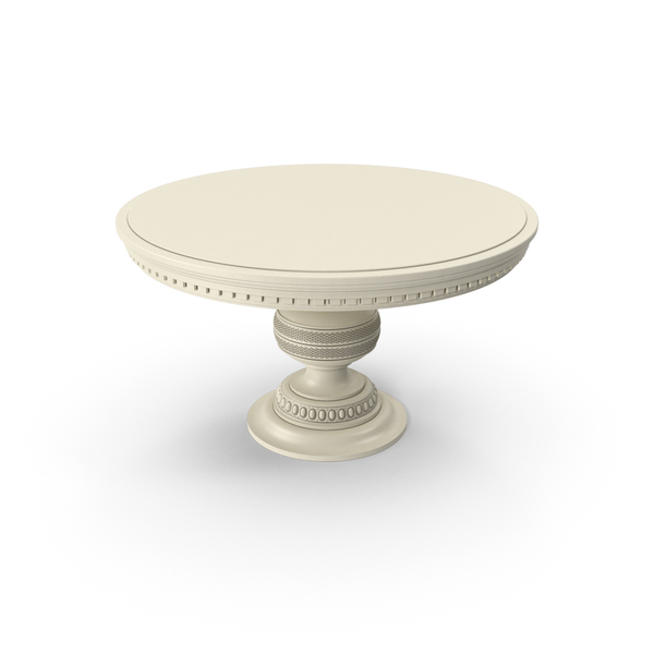Beige Paint Wood Round Table PNG & PSD Images