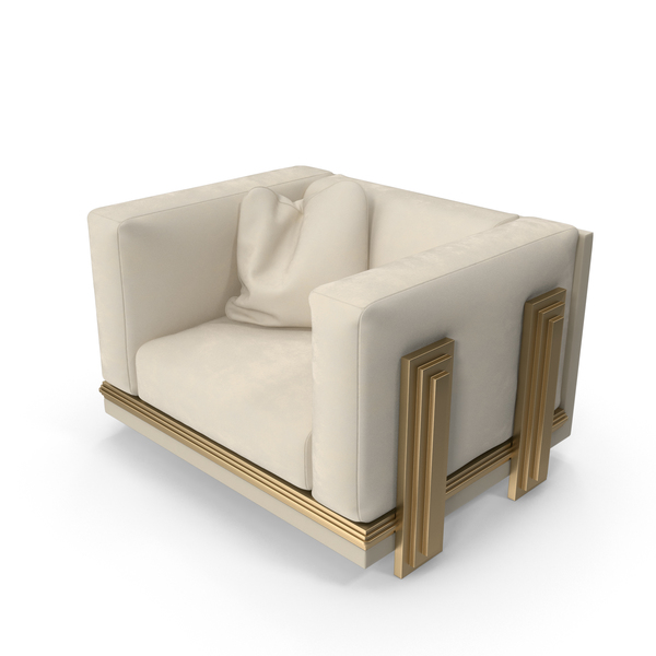 Beige Sofa Armchair PNG & PSD Images
