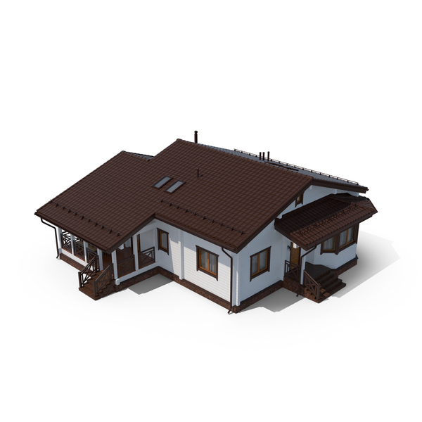 Beige Wooden Finland Cottage House PNG & PSD Images