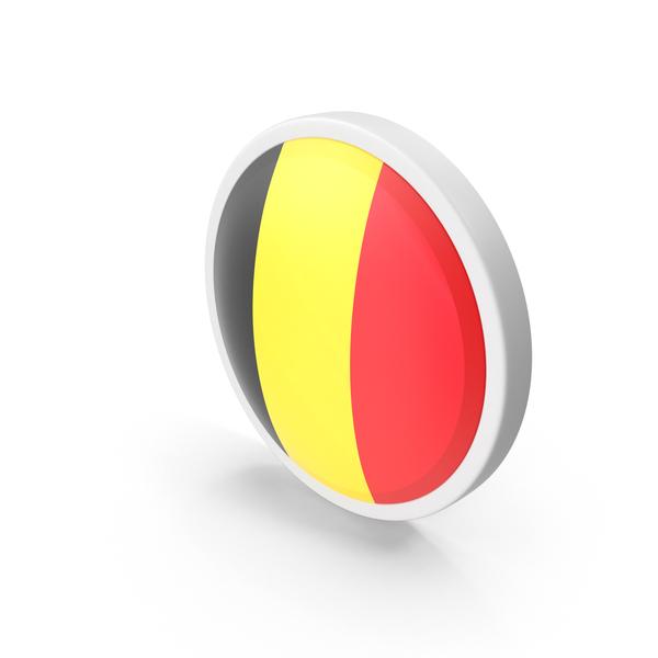 Belgium Flag Button PNG & PSD Images