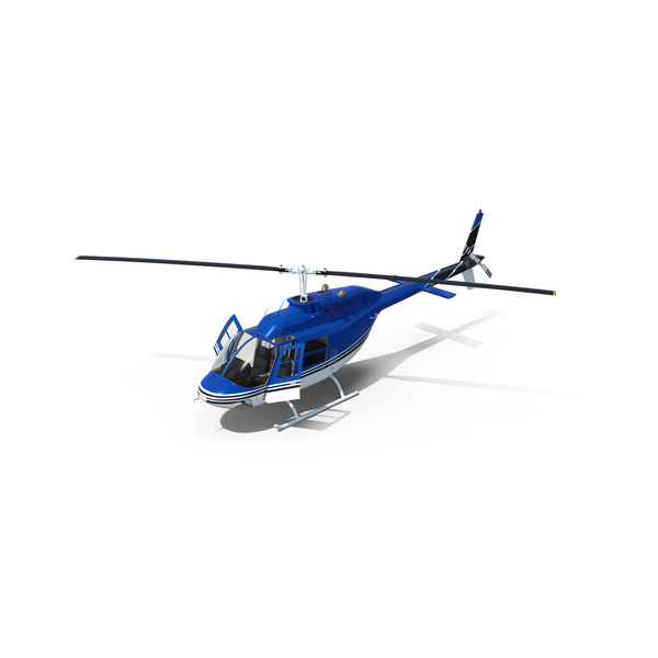 Civilian Utility Helicopter: Bell 206 JetRanger PNG & PSD Images